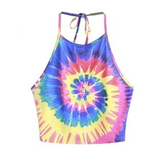 NEVER WORN Tie Dye Halter Top